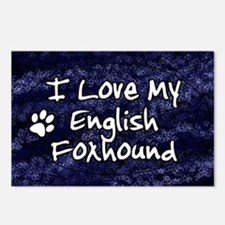 englishfox_funkylove_oval Postcards (Package of 8)