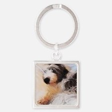 roofus_sleepy_poster Square Keychain