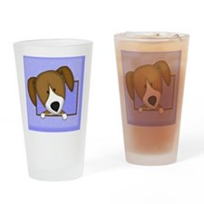 beagle_drawing_tile Drinking Glass