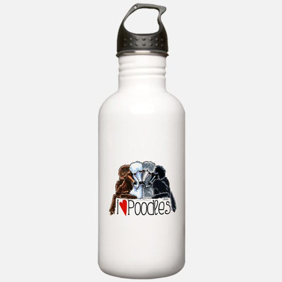 Love Poodles Water Bottle