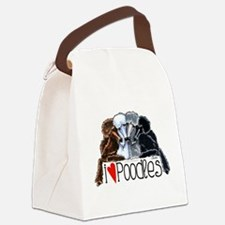 Love Poodles Canvas Lunch Bag