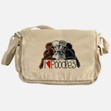 Love Poodles Messenger Bag