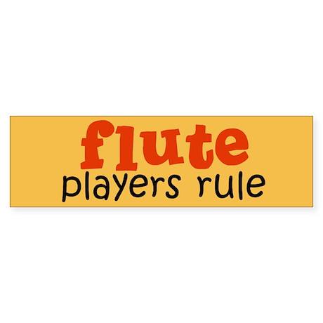 Flute Players Bumper Sticker