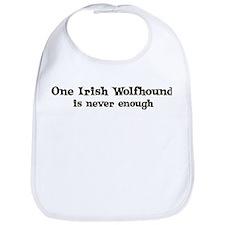 One Irish Wolfhound Bib