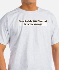 One Irish Wolfhound Ash Grey T-Shirt