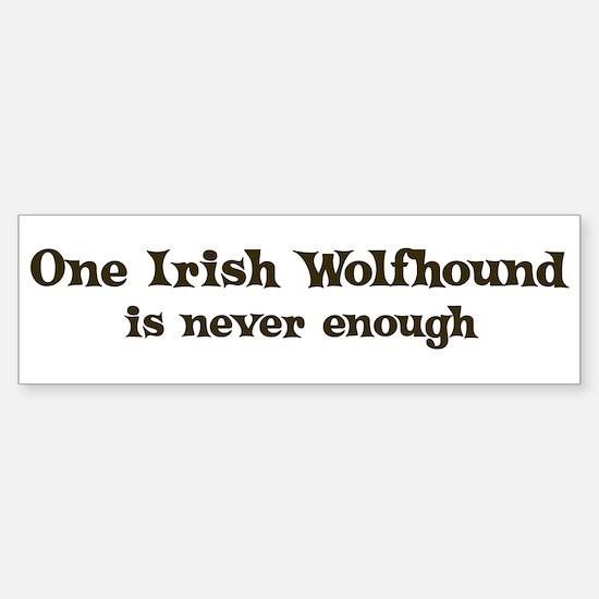 One Irish Wolfhound Bumper Bumper Bumper Sticker