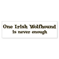One Irish Wolfhound Bumper Bumper Sticker
