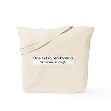 One Irish Wolfhound Tote Bag