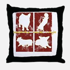 redboxes_corgi Throw Pillow