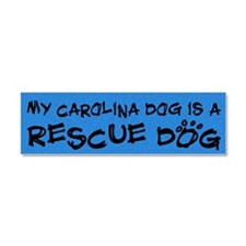 rescuedog_carolina Car Magnet 10 x 3