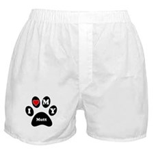 I Heart My Mutt Boxer Shorts