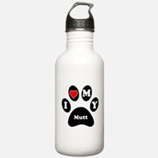 I Heart My Mutt Water Bottle