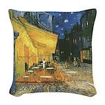 Arles at Night Woven Throw Pillow