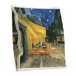 Arles at Night Burlap Throw Pillow