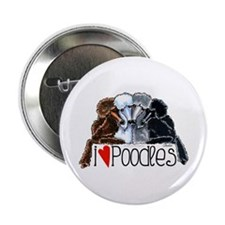 "Love Poodles 2.25"" Button"