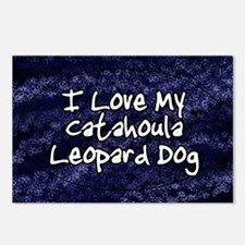 funklove_oval_catahoula Postcards (Package of 8)