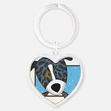 catahoula_cartoon Heart Keychain