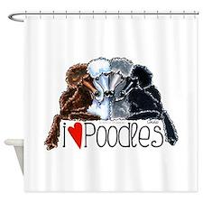 Love Poodles Shower Curtain