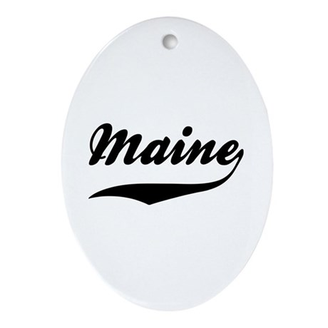 Maine Oval Ornament