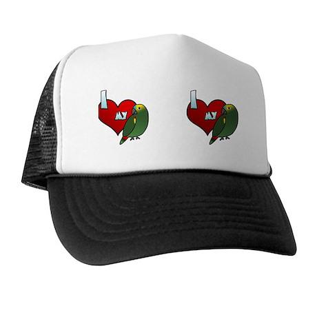 iheartmy_bluefrontamazon_mug Trucker Hat
