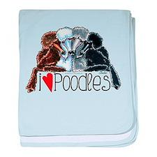 Love Poodles baby blanket