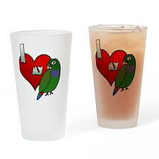 iheartmy_maxipionus_blk Drinking Glass