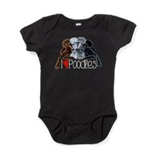 Love Poodles Baby Bodysuit