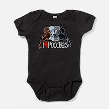 Love Poodles Baby Bodysuit