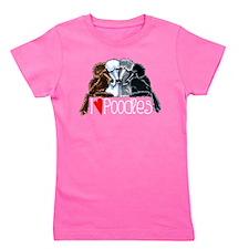 Love Poodles Girl's Tee