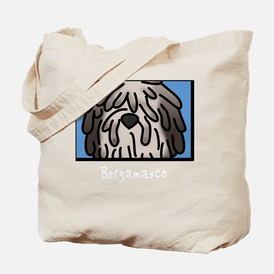 anime_bergamasco_fawn_blk Tote Bag