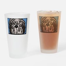 anime_bergamasco_fawn_blk Drinking Glass