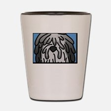 anime_bergamasco_grey_blk Shot Glass