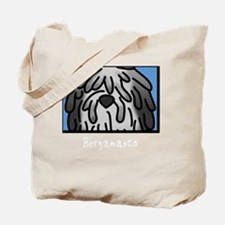 anime_bergamasco_grey_blk Tote Bag