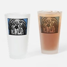 anime_bergamasco_grey_blk Drinking Glass
