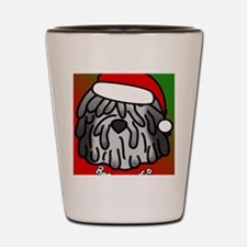 anime_bergamasco_grey_ornament Shot Glass