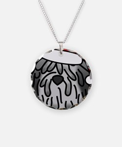 anime_bergamasco_grey_orname Necklace