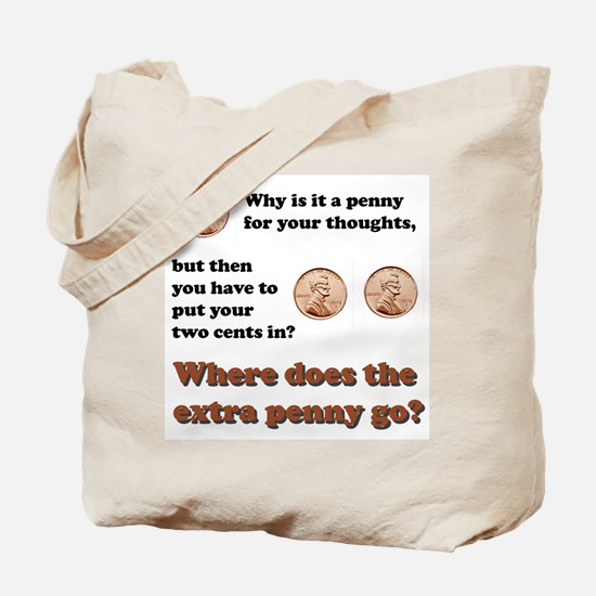 Two Cents Tote Bag