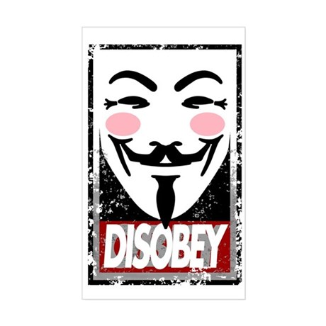 Disobey Sticker (Rectangle)