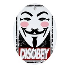 Disobey Oval Ornament
