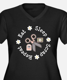 2-ScrapEatSleepDkT copy Plus Size T-Shirt
