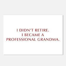 I-didnt-retire-grandma-OPT-DARK-RED Postcards (Pac