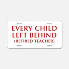 every-child-left-behind-OPT-RED Aluminum License P