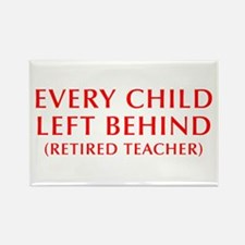 every-child-left-behind-OPT-RED Rectangle Magnet