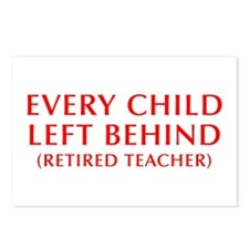 every-child-left-behind-OPT-RED Postcards (Package