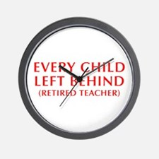 every-child-left-behind-OPT-RED Wall Clock