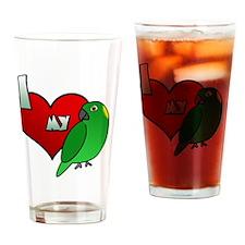 iheartmy_yellownaped_blk Drinking Glass