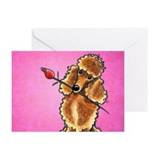 Apricot Poodle Rose Pink Greeting Cards (Pk of 20)