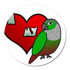iheartmy_greencheekedconure Round Car Magnet