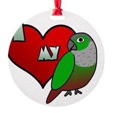 iheartmy_greencheekedconure Ornament