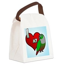 iheartmy_greencheekedconure_ornam Canvas Lunch Bag